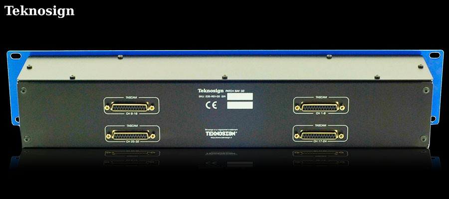 Teknosign XLR Combo / DB25 32 channel Patchbay