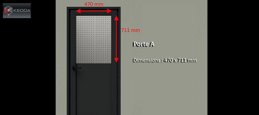 Door A for Isolation Booths