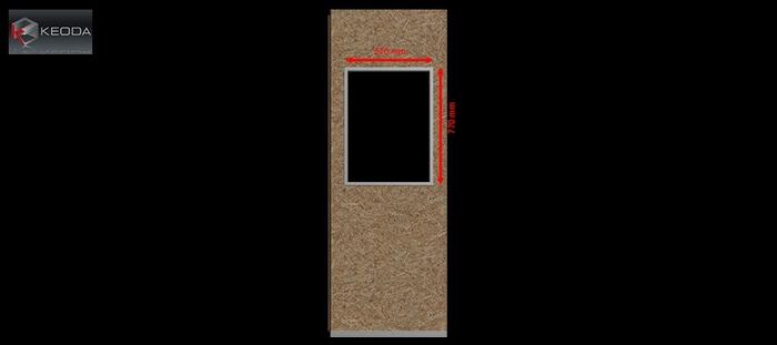 Fenêtre modèle A pour cabines Acoustic Space