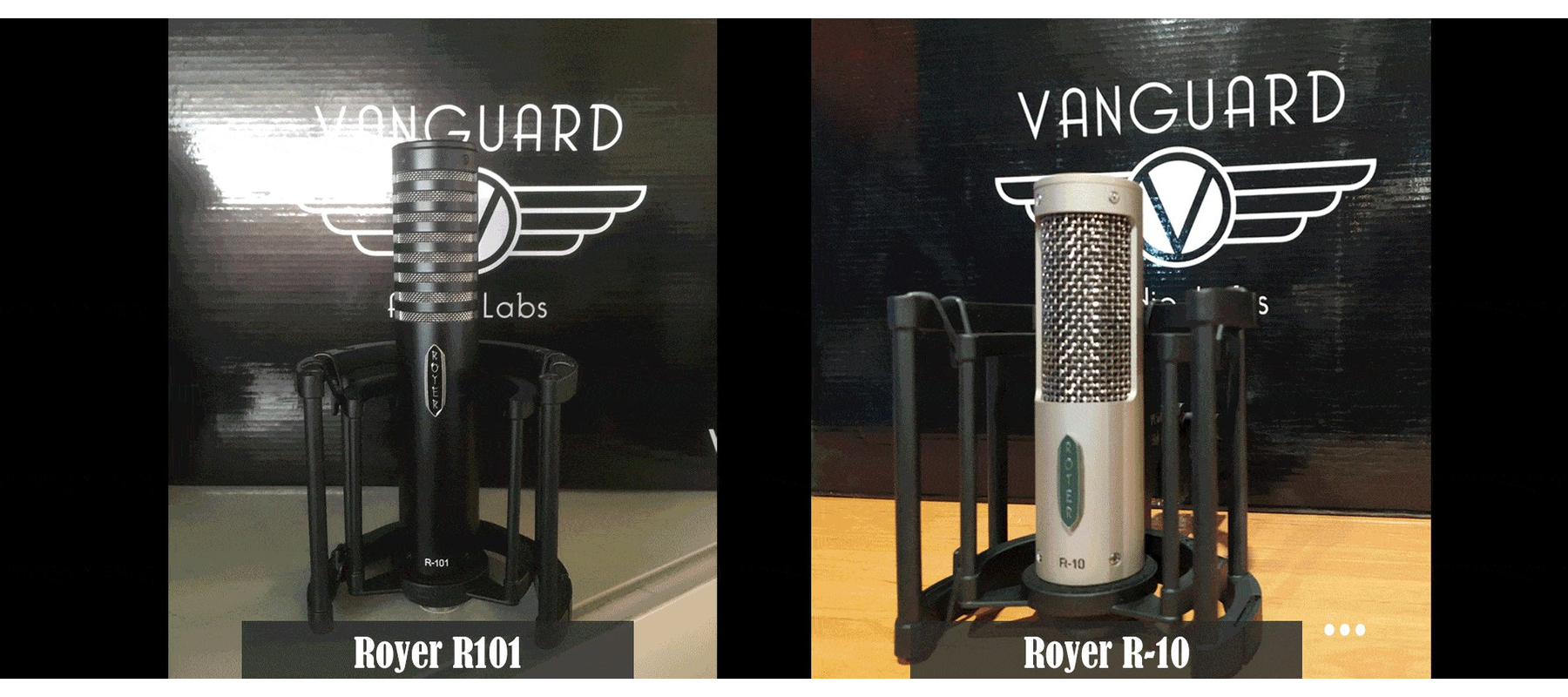 Vanguard VLSM Suspension - Compatible microphones