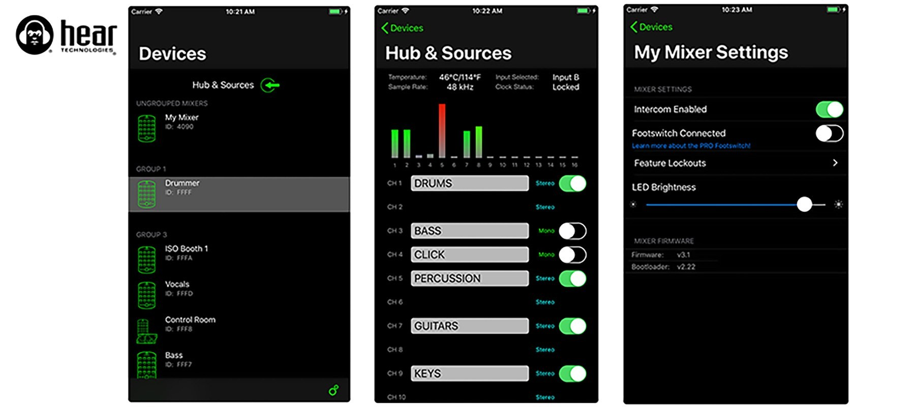 Carte Word Clock pour Hub Hear Back PRO