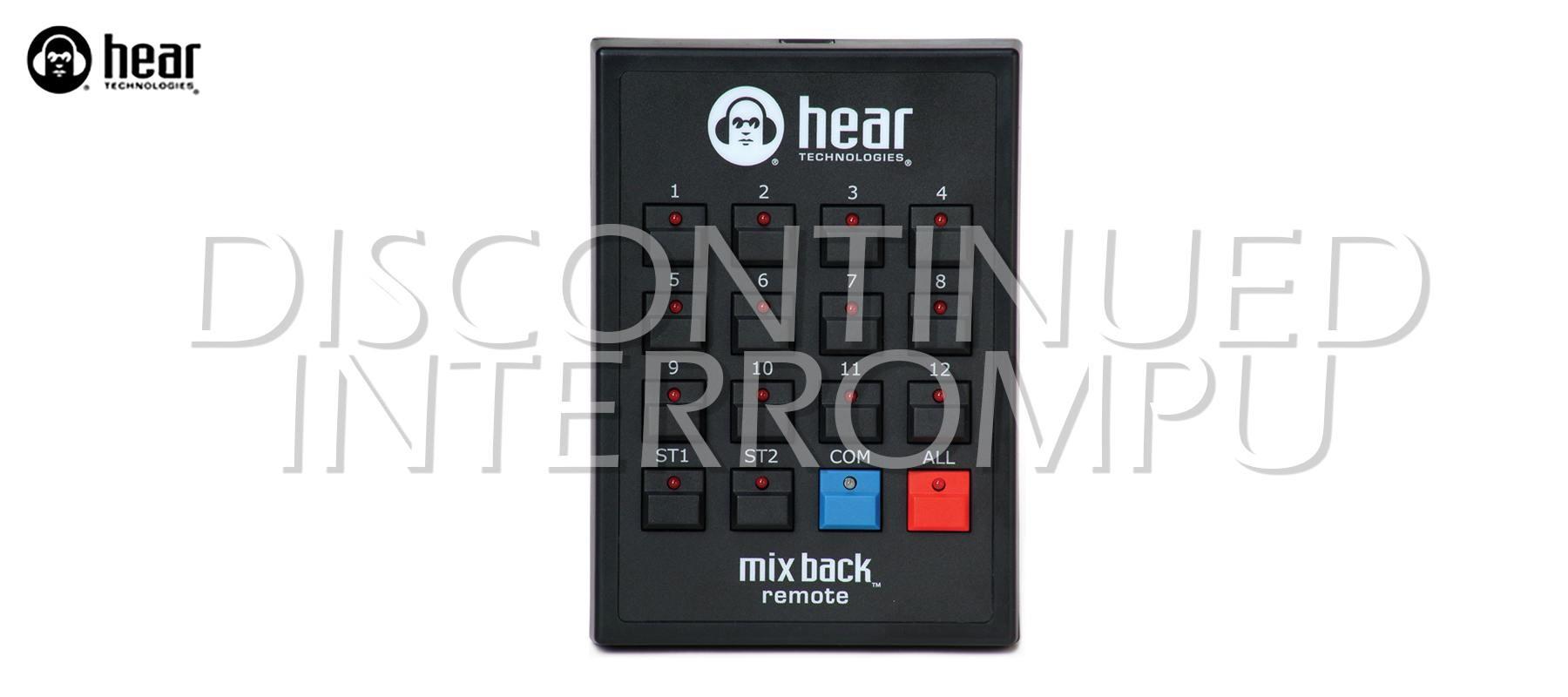 Mix Back Talkback Remote