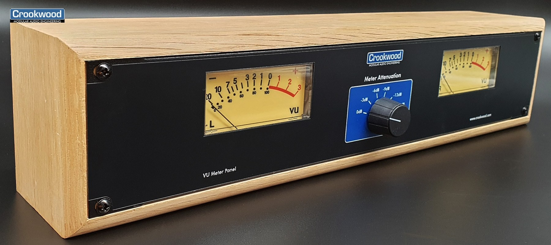Crookwwod Stereo Vu meter with wood case