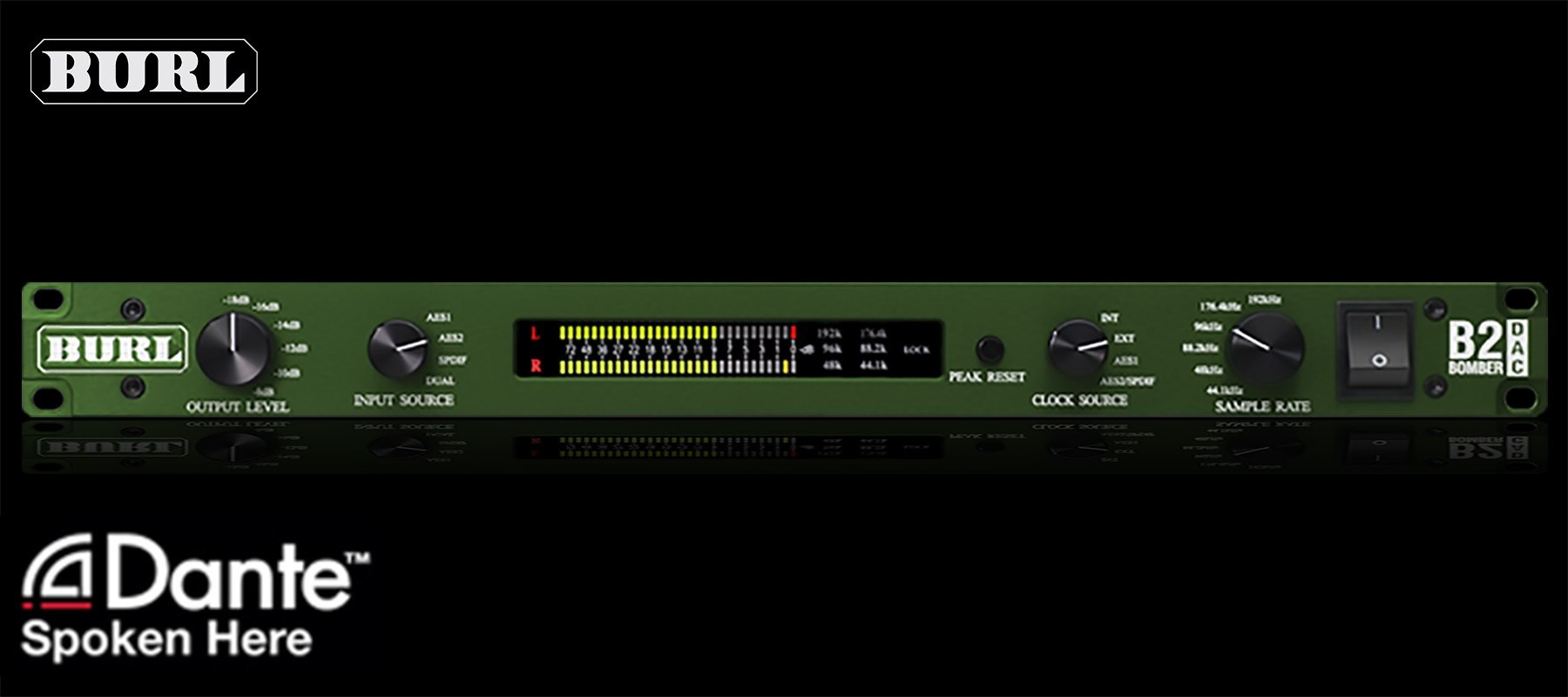 Burl Audio B2 Bomber DAC Dante Front