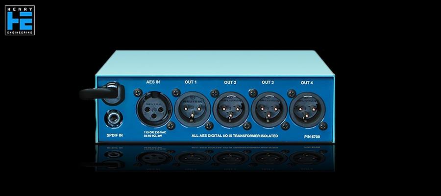 Henry Engineering AES Digital DA 2X4 - Back