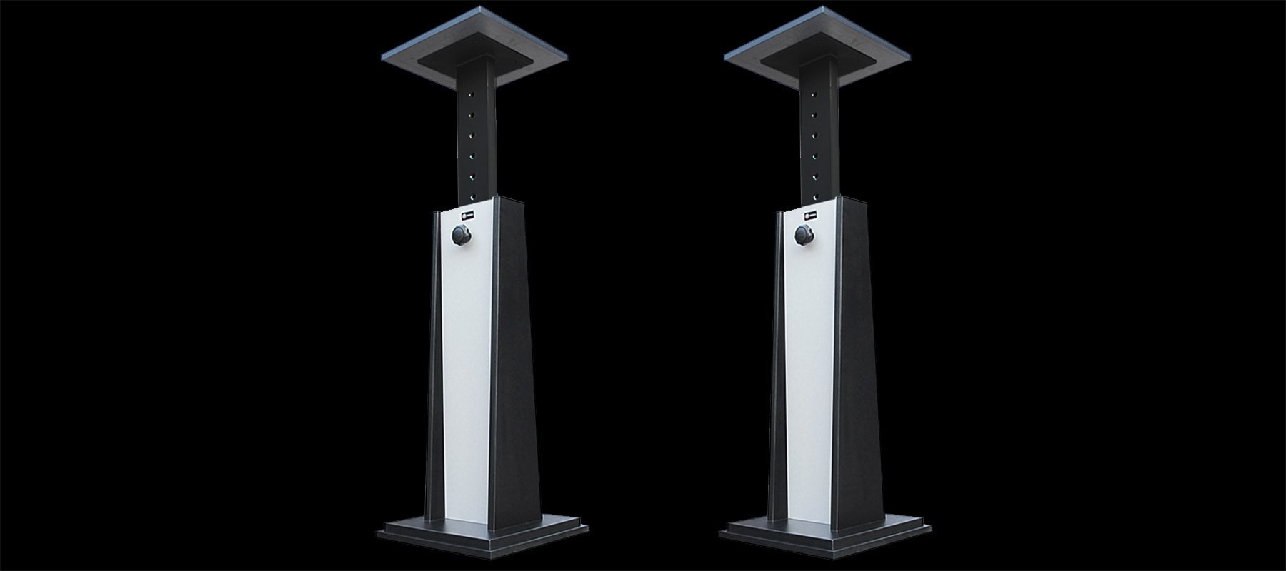 Keoda Top Stand - Noir et aluminium