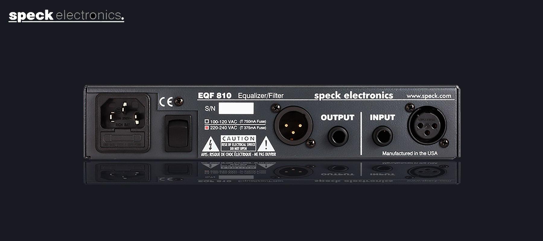 Speck Electronics EQF 810 - Arrière