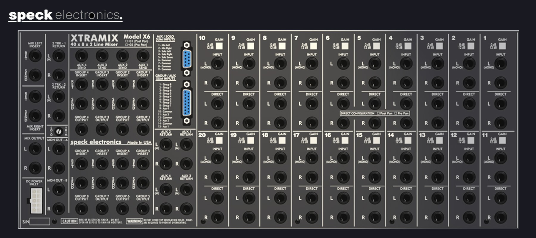Speck Electronics Xtramix X6 - Back