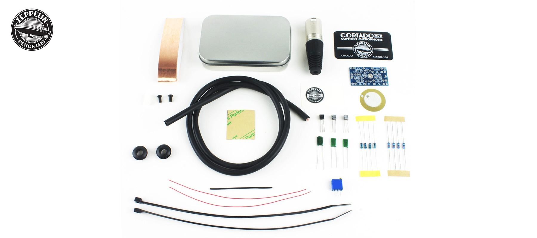 Cortado MkII Balanced Buffered Contact Mic DIY Kit