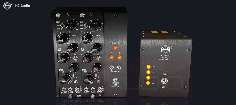 H2 Audio 002 Rack - filled with 0011 modules