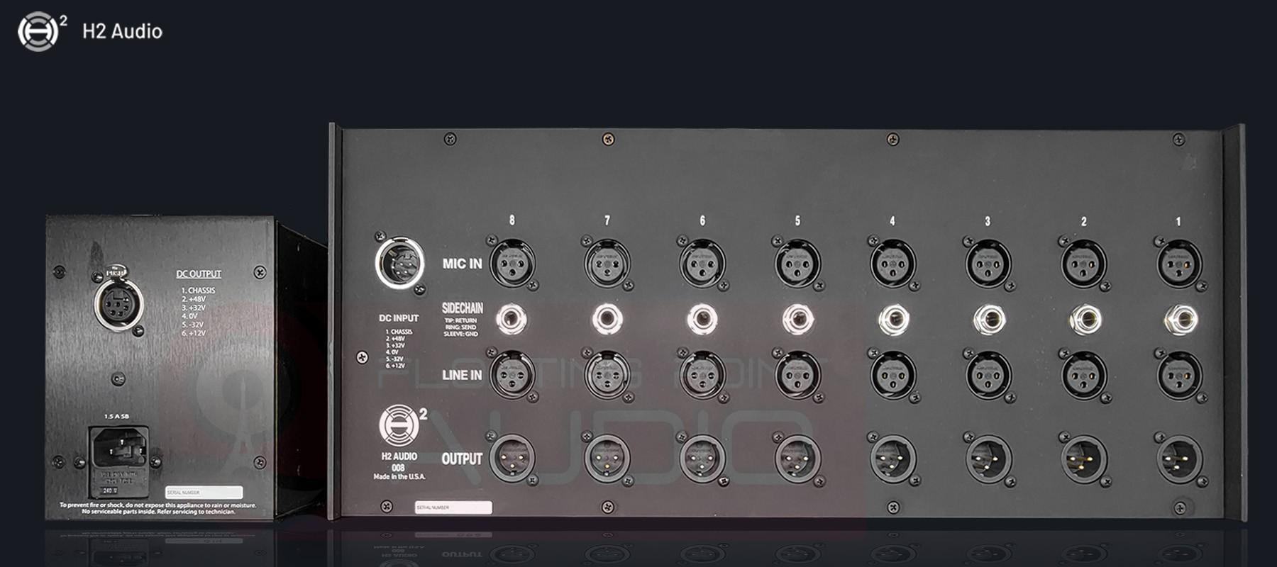 H2 Audio 008 Rack - Back
