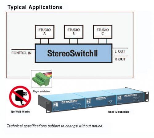 StereoSwitch Utilisation typique